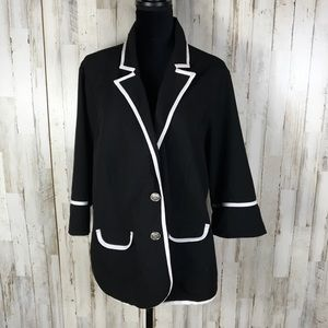 Torrid Button Front Blazer Jacket Career 4X Plus